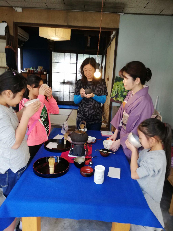 古民家で茶道体験